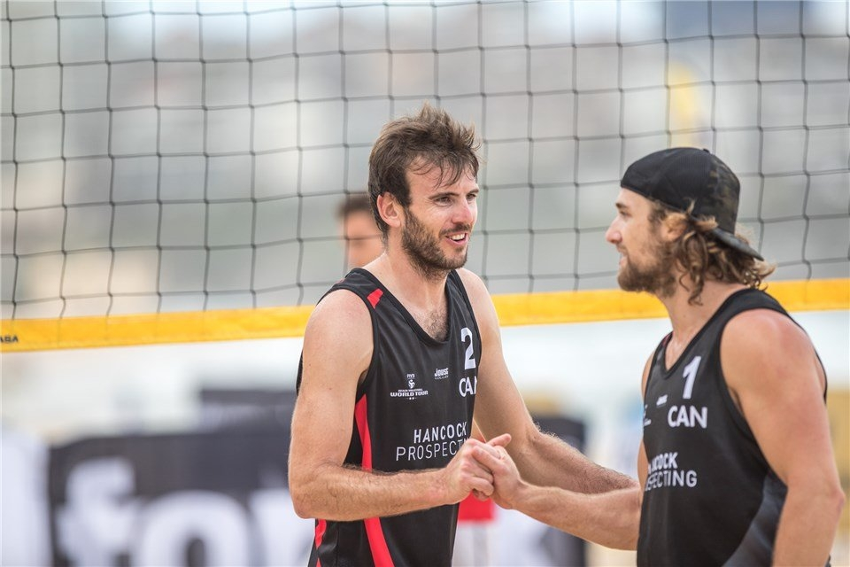 Ben Saxton (left) and Grant O'Gorman won the World Tour two-star event in Sydney in November. Photocredit: FIVB