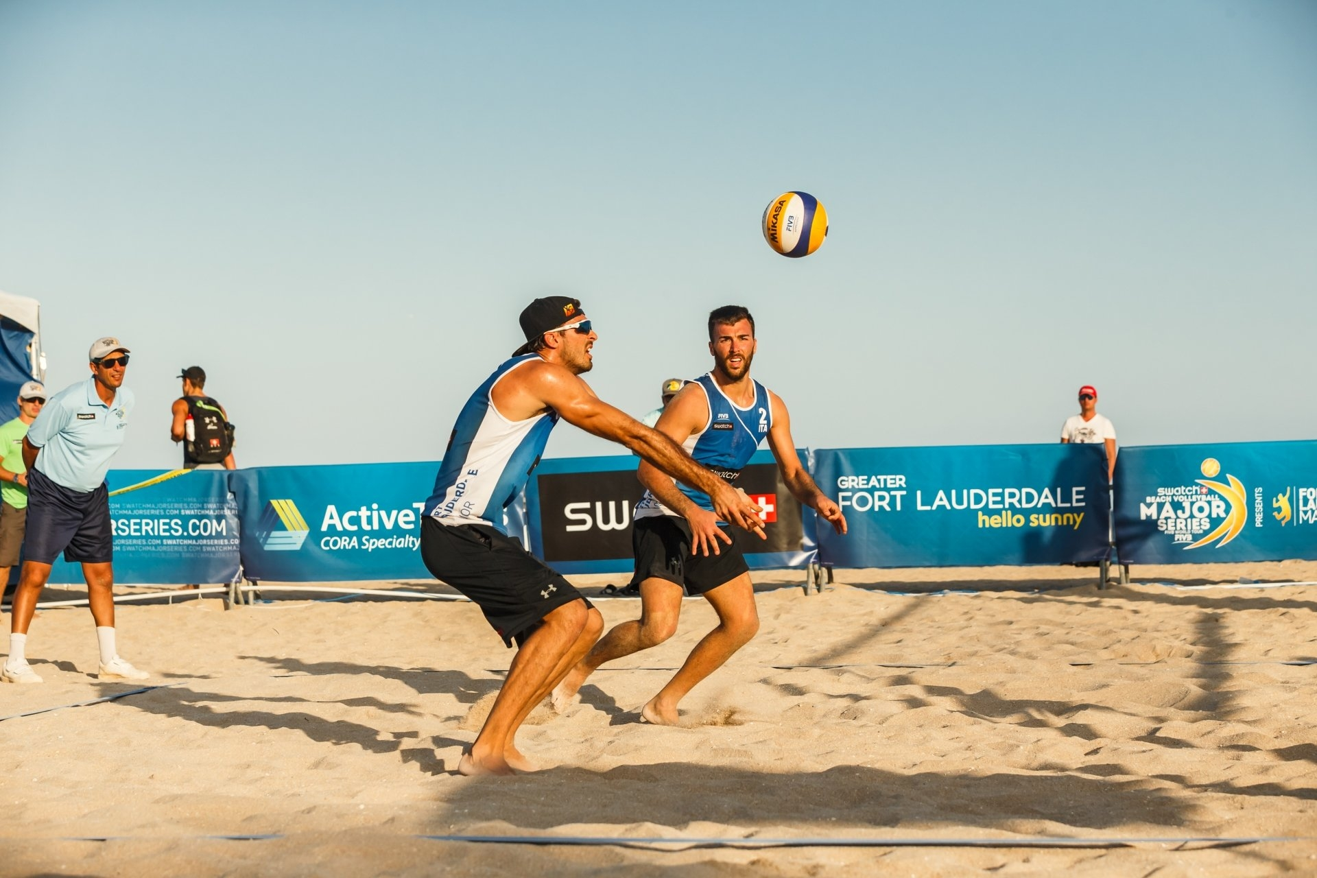 Italians Alex Ranghieri and Marco Caminati are among the top teams in Kish Island
