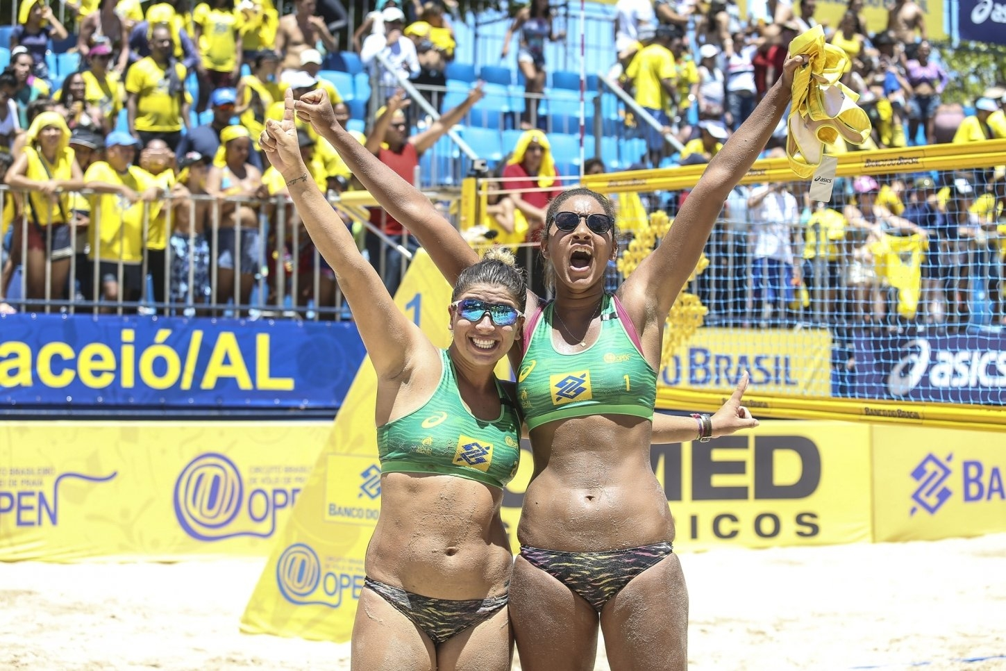 Rebecca and Ana Patrícia have topped the podium in the National Tour for the first time (Photocredit: CBV)