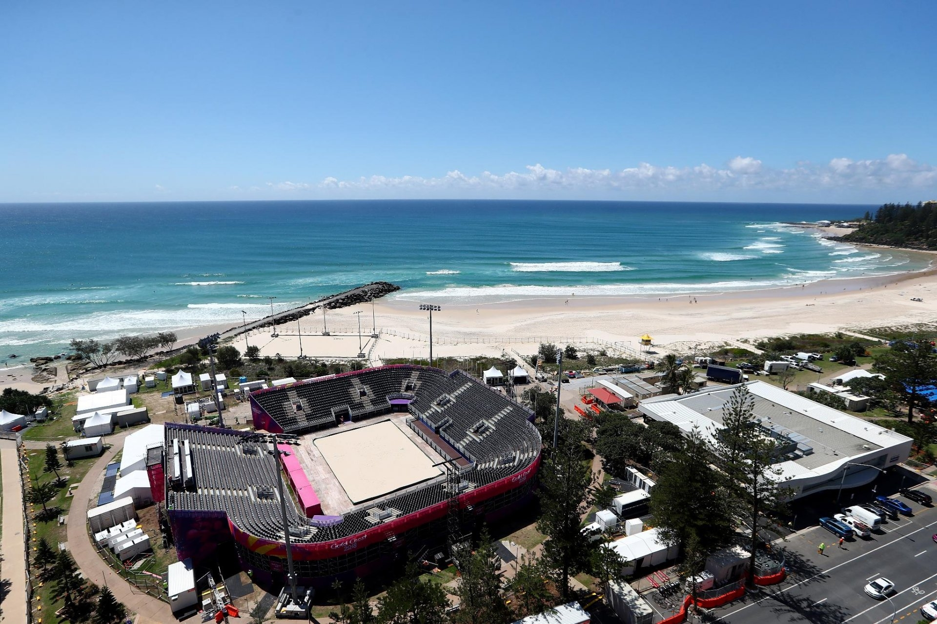 The beach arena of the Commonwealth Games will host matches of teams from 17 countries (Photocredit: CG2018)
