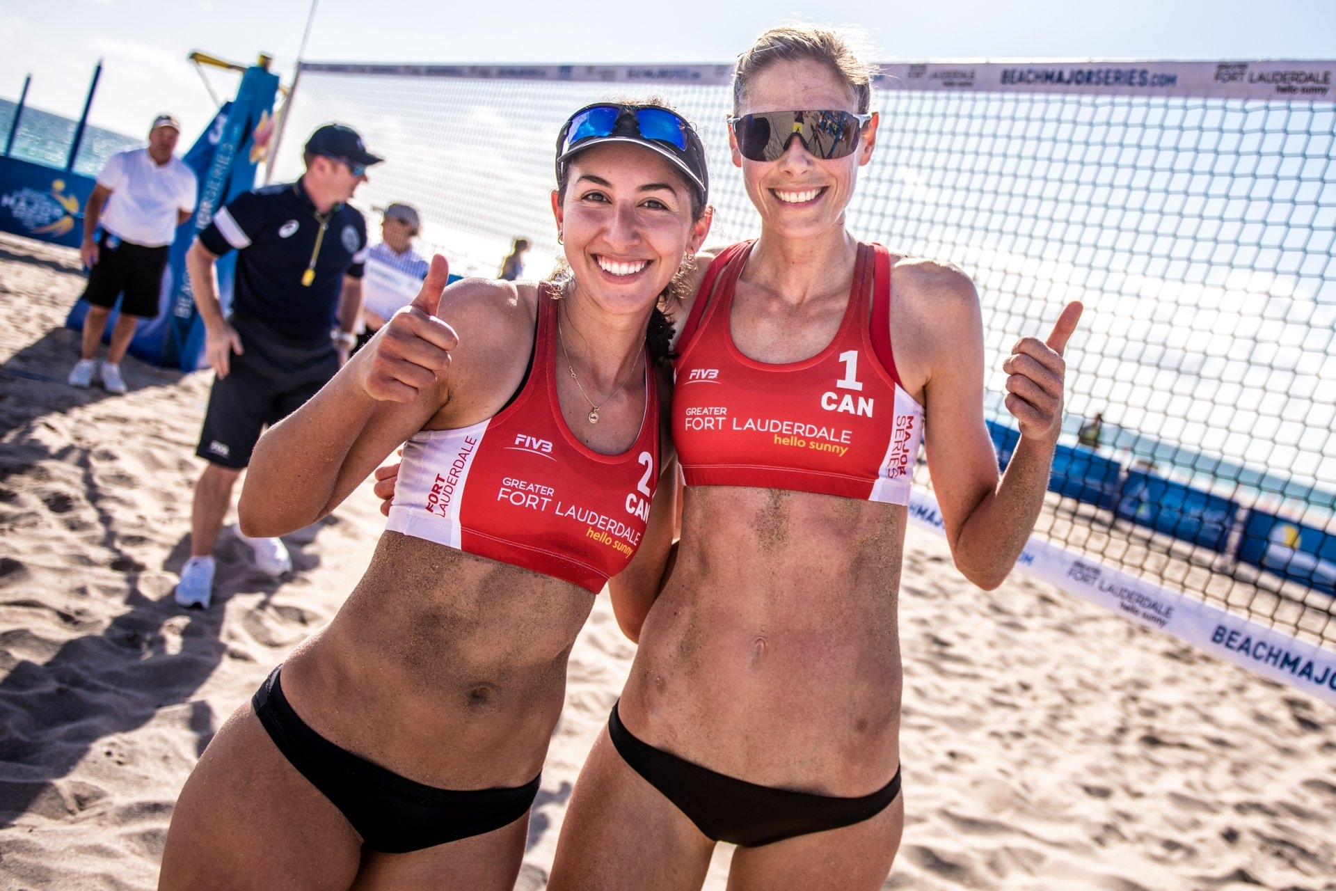 Canadians Melissa Humana-Paredes and Sarah Pavan remain as top-seeded team in the world