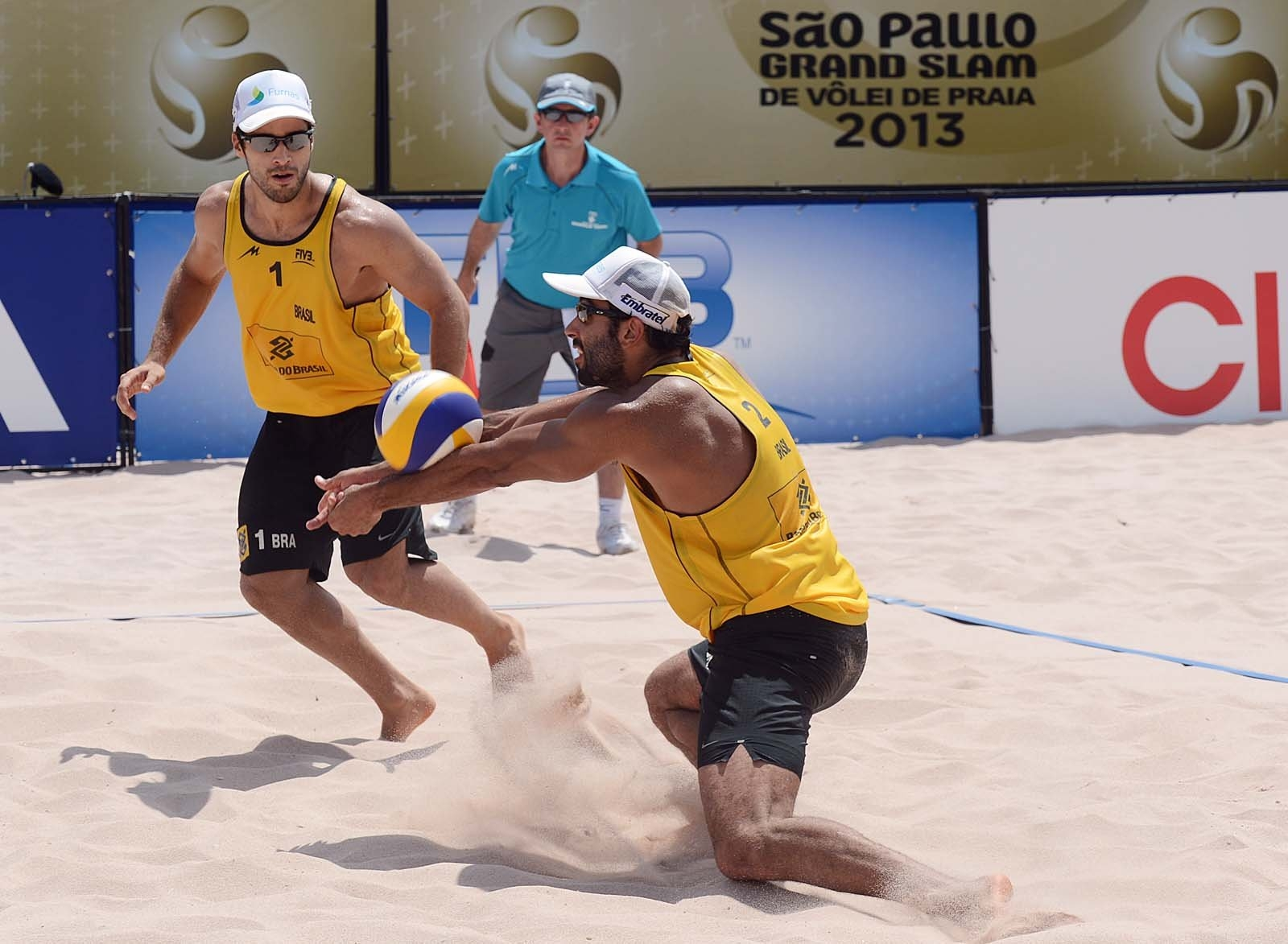 Pedro and Bruno have played together between 2012 and 2013 (Photocredit: FIVB)