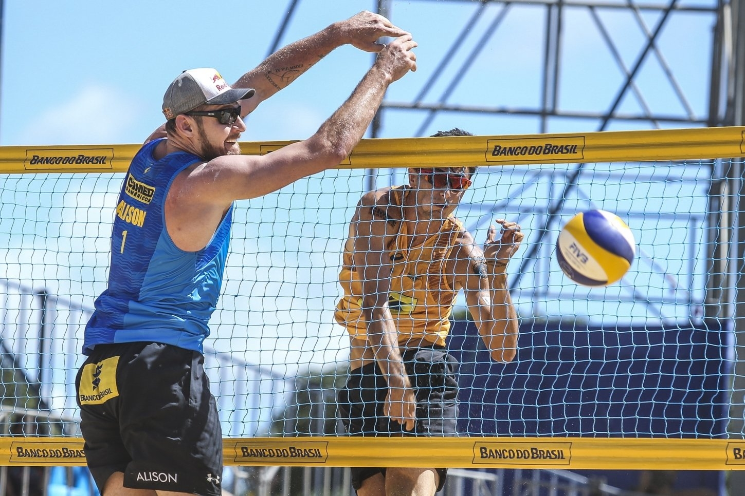 Alison and Andre were opponents in the final of the Brazilian Super Praia in April (Photocredit: CBV)
