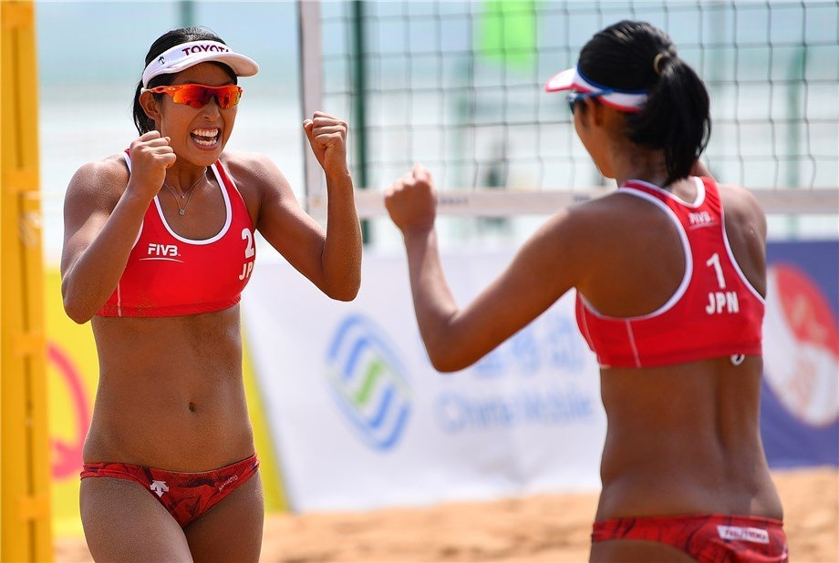 Japan's Sayaka Mizoe and Suzuka Hashimoto have won their second World Tour gold together (Photocredit: FIVB)