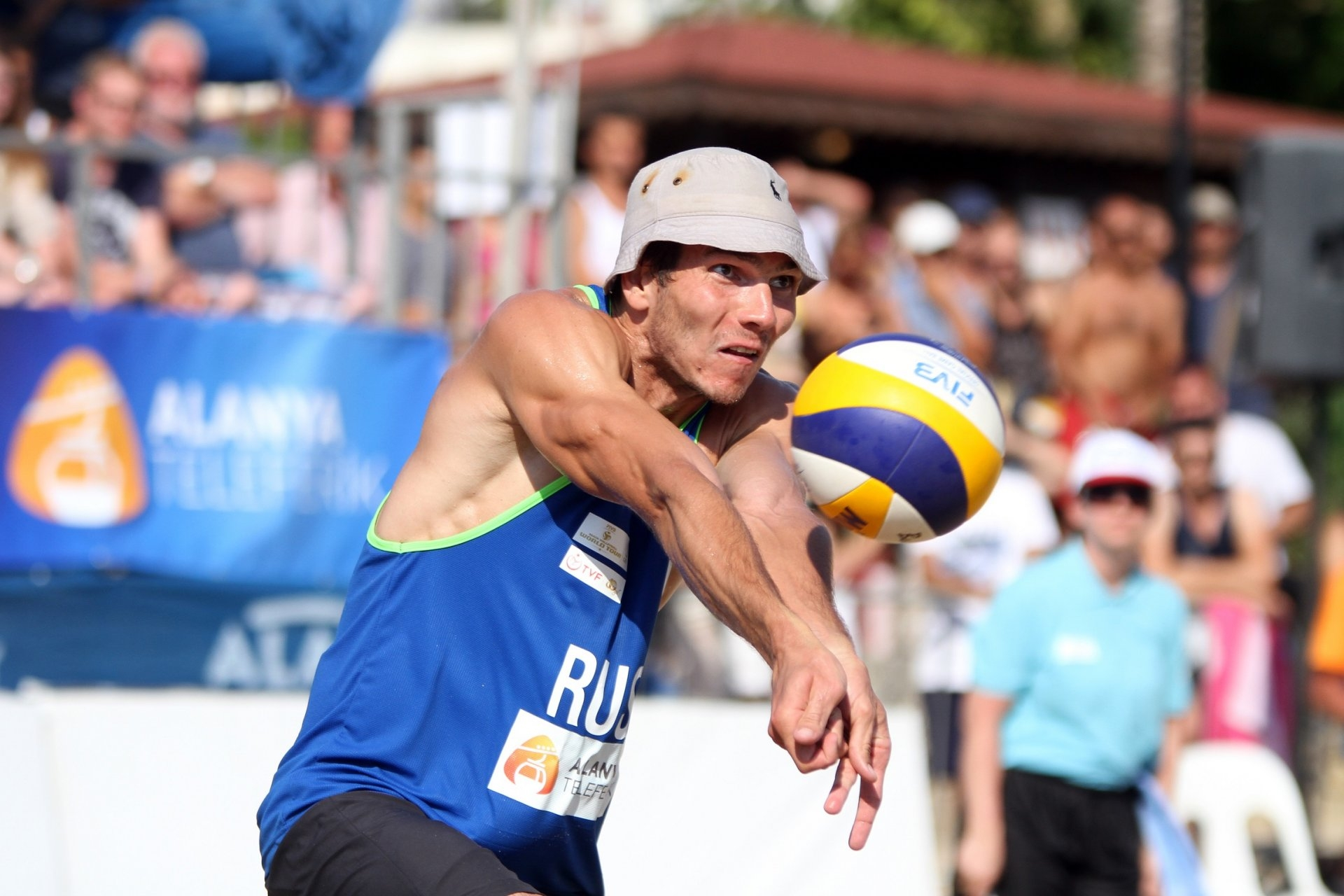 Russia's Maksim Hudyakov during the men's final in Alanya (Photocredit: FIVB)