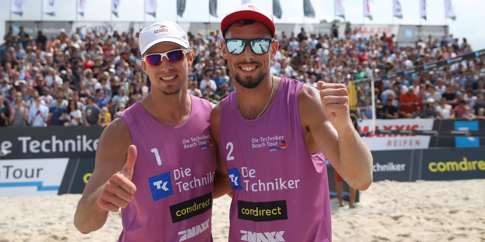 Polish Olympians Prudel and Losiak topped the podium in Münster (Photocredit: Die Teckniker Beach Tour)