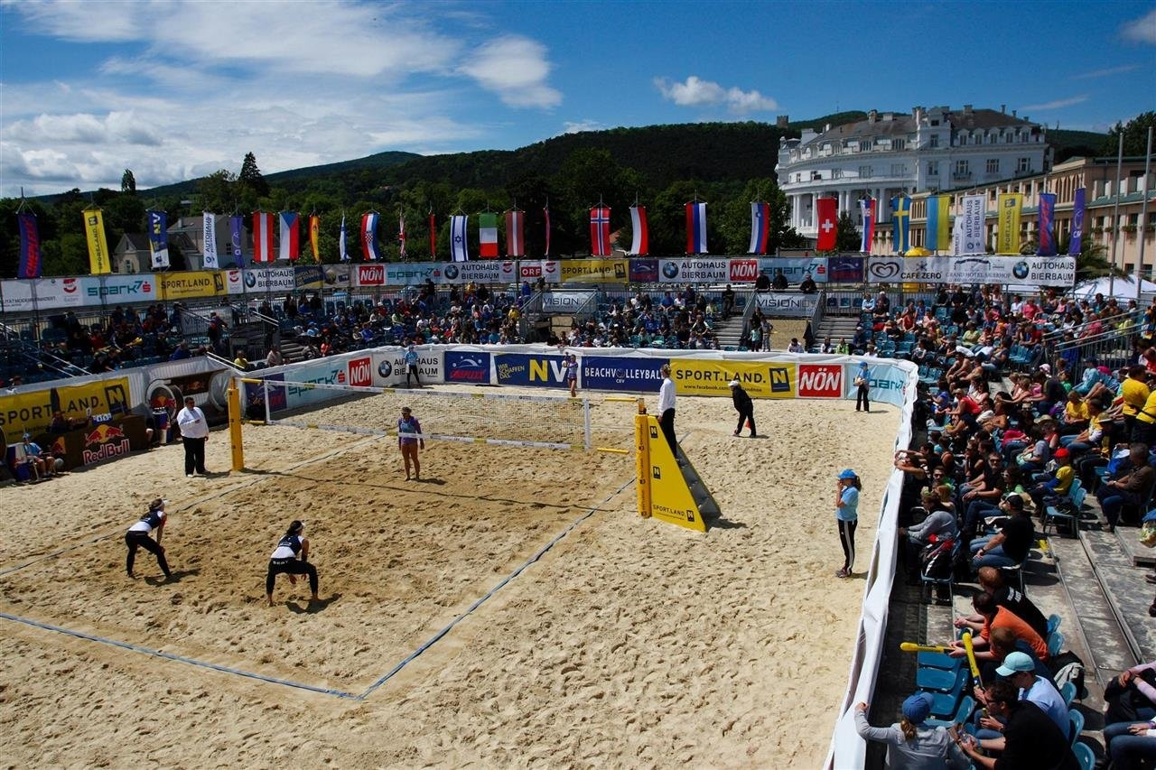 The city of Baden hosted the European Continental Cup last week and now stages the World Tour (Photocredit: CEV)