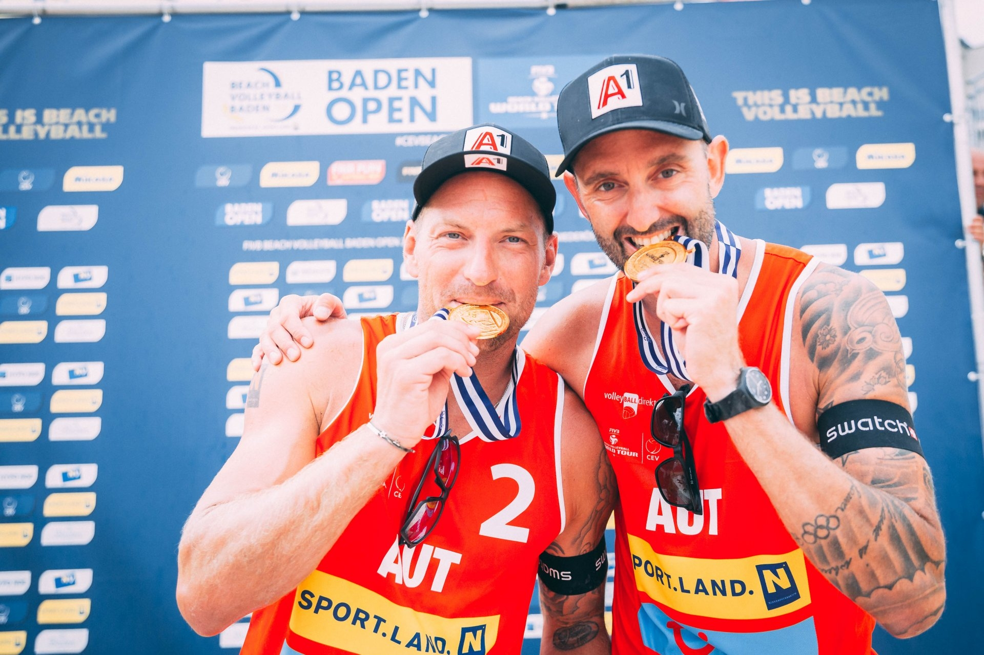Horst and Doppler celebrate their first title in the World Tour ( Photocredit: FIVB)