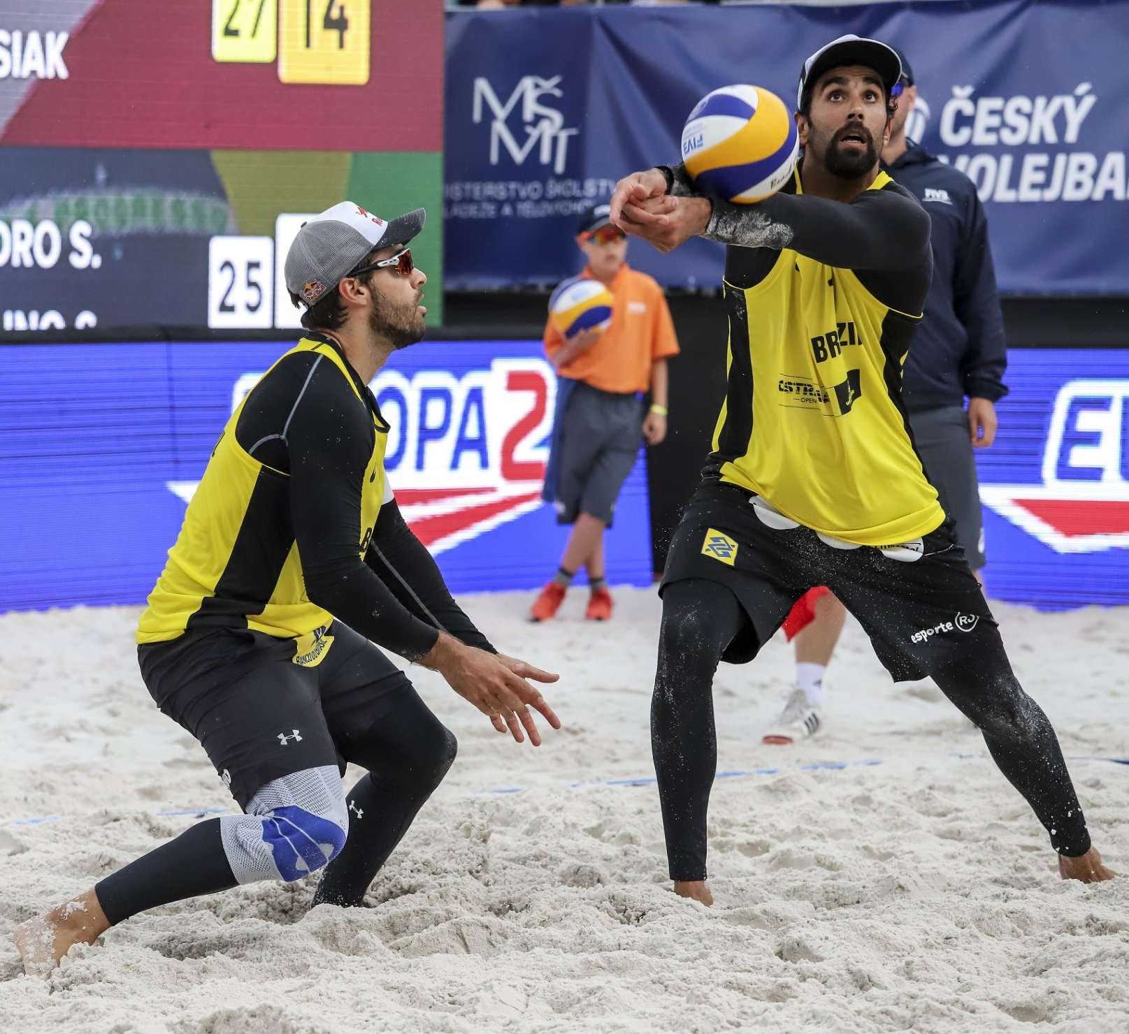 The run of Pedro and Bruno in Ostrava was ended by Brouwer and Meeuwsen in the Round of 16 (Photocredit: FIVB)