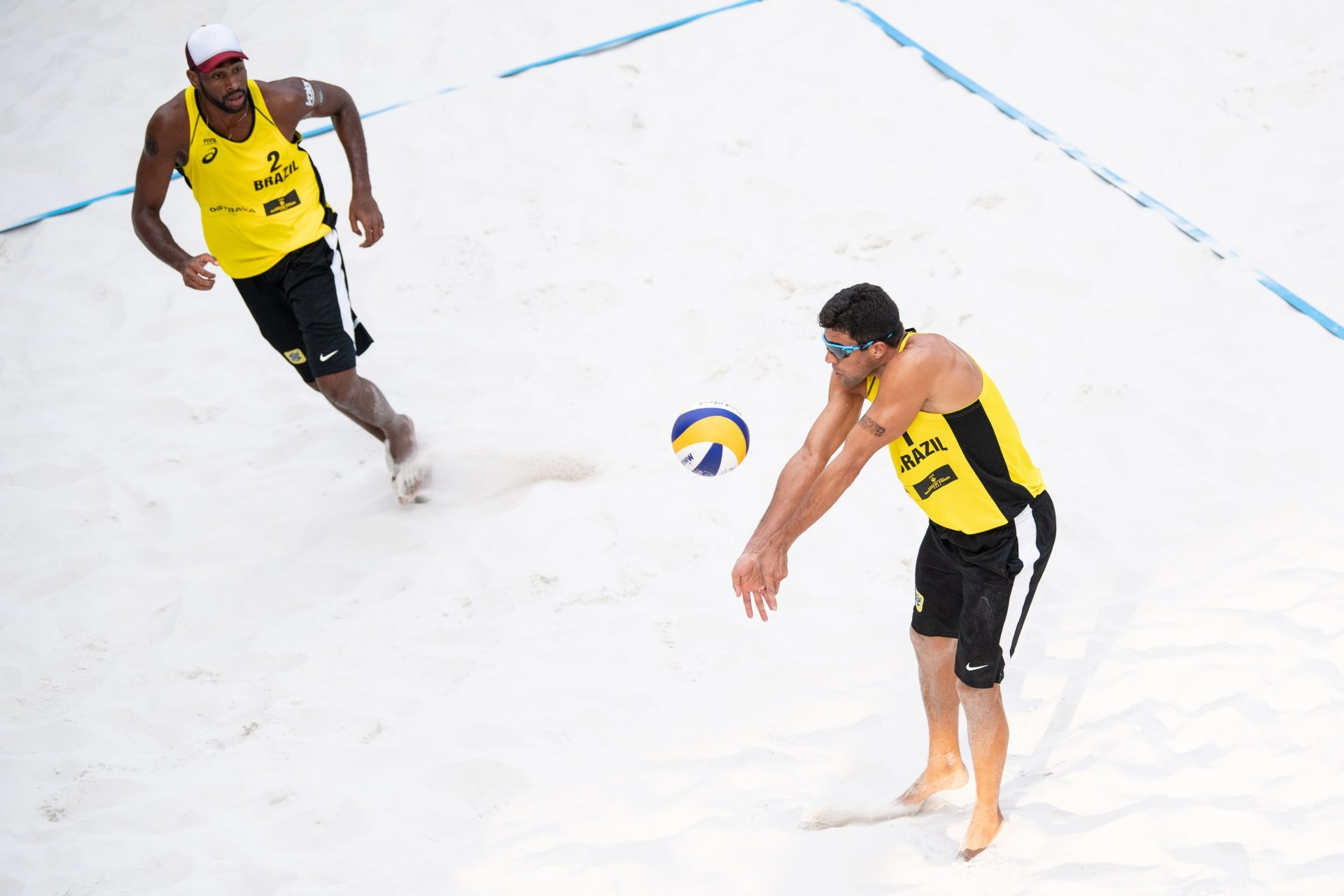 Evandro and Vitor Felipe were the most successful Brazilian team in Czech Republic, finishing fifth (Photocredit: FIVB)