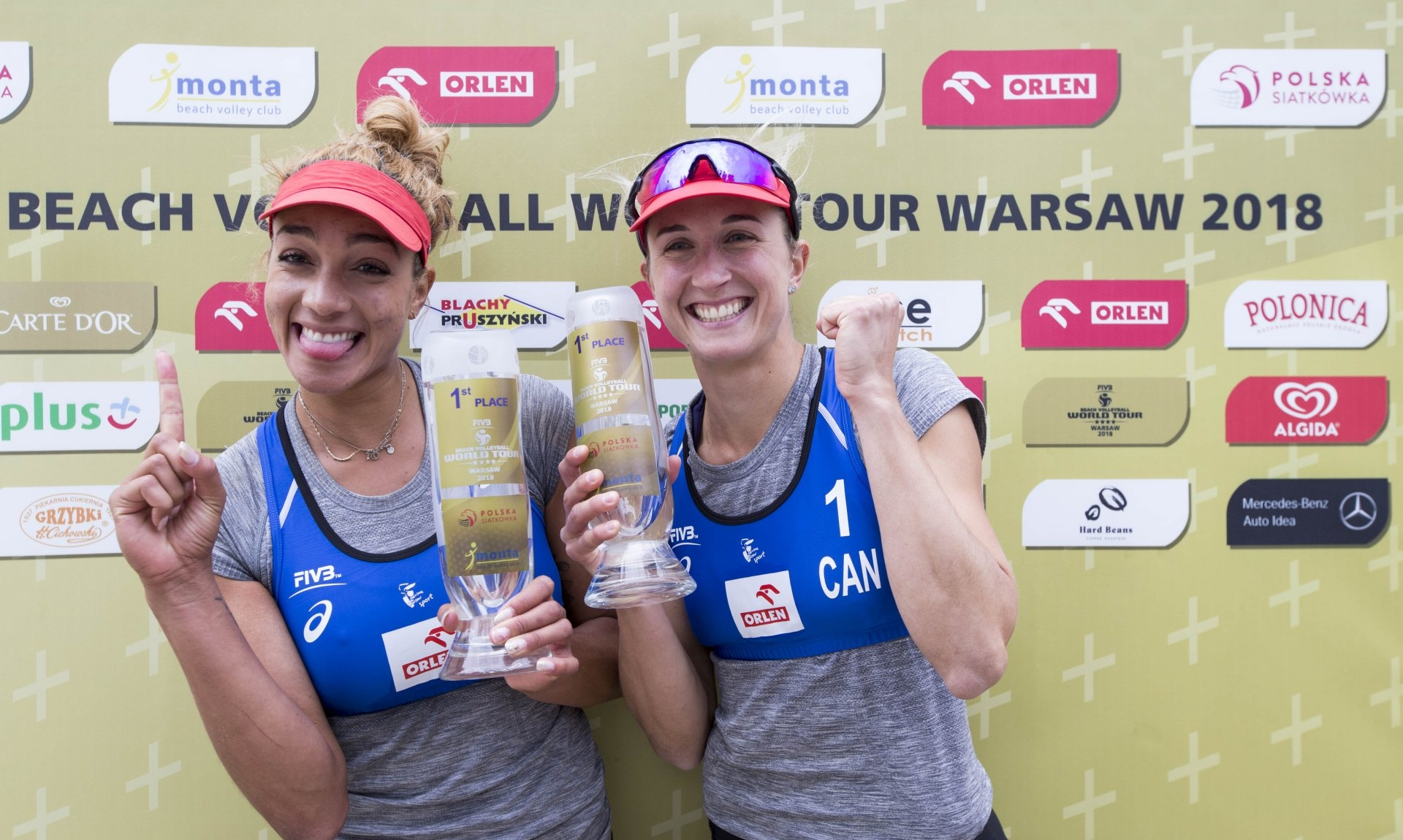 Brandie and Heather topped the podium in their 15th World Tour tournament together (Photocredit: FIVB)