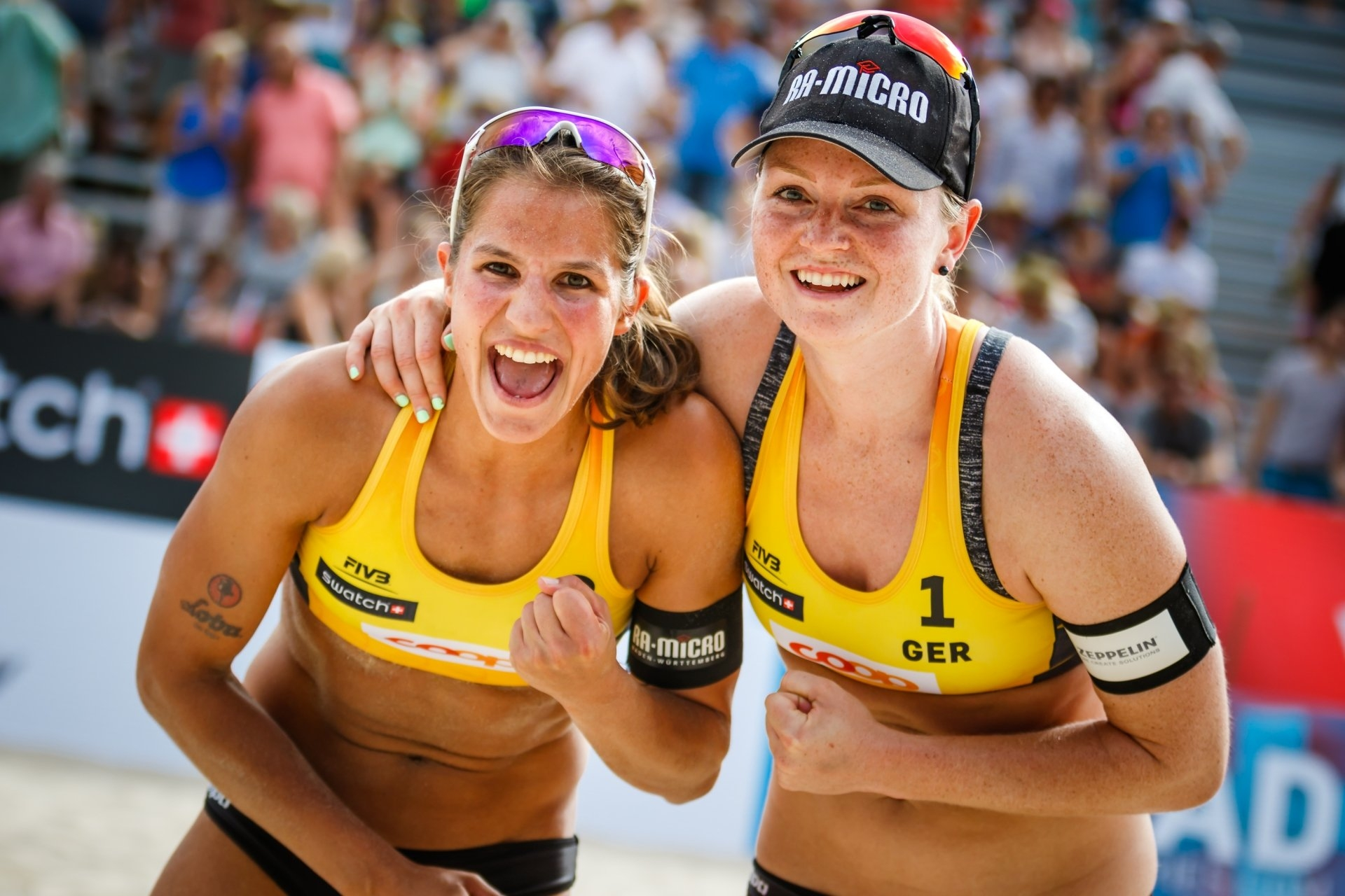 Laboureur and Sude climbed to the top of the world rankings for the first time on their careers