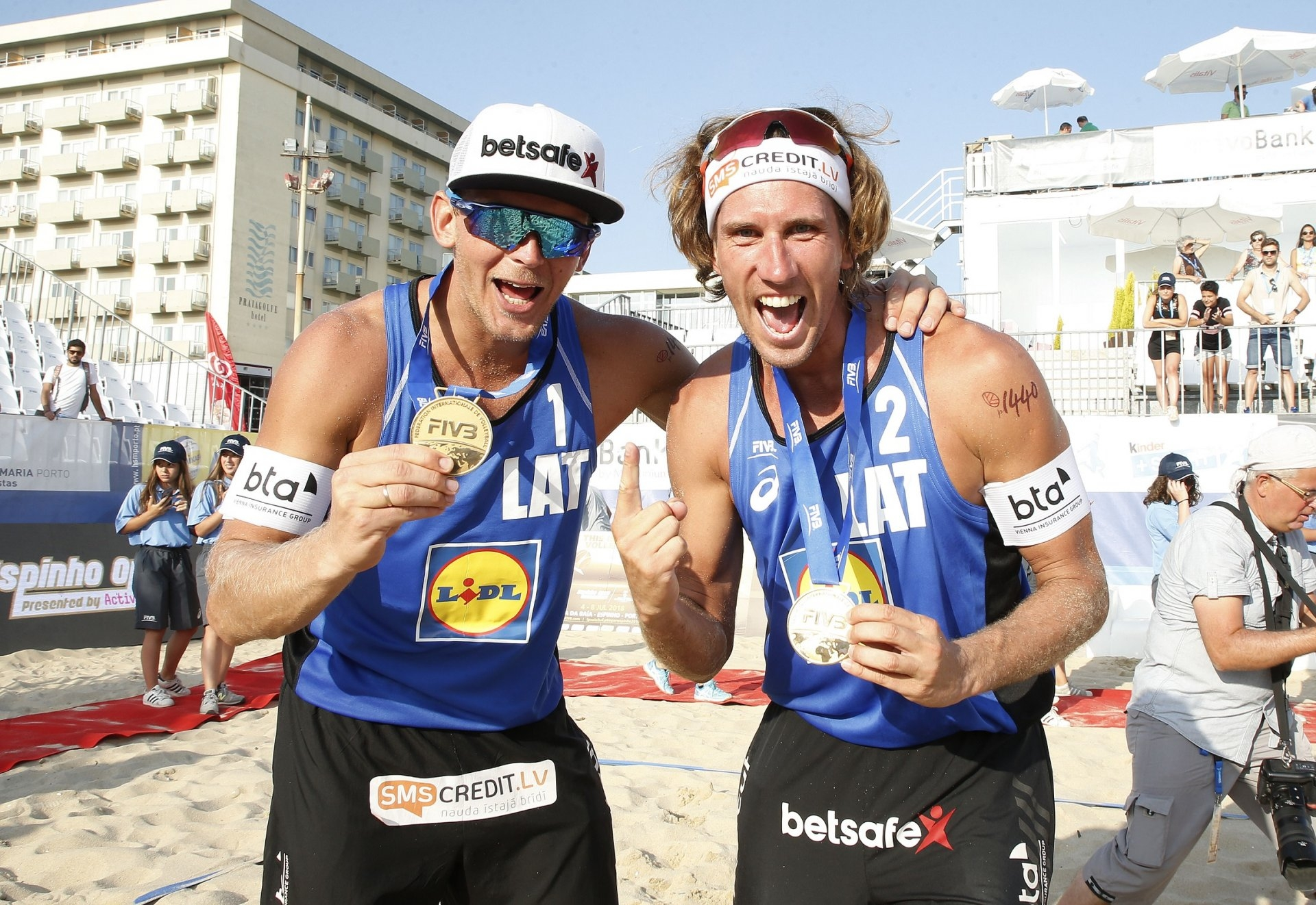 Smedins and Samoilovs are back in the top of the podium after nearly two years (Photocredit: FIVB)