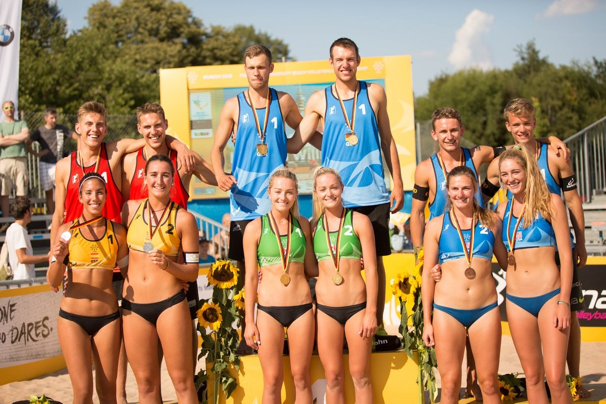 The medal winners of the World University Championships in Munich (Photocredit: FISU)