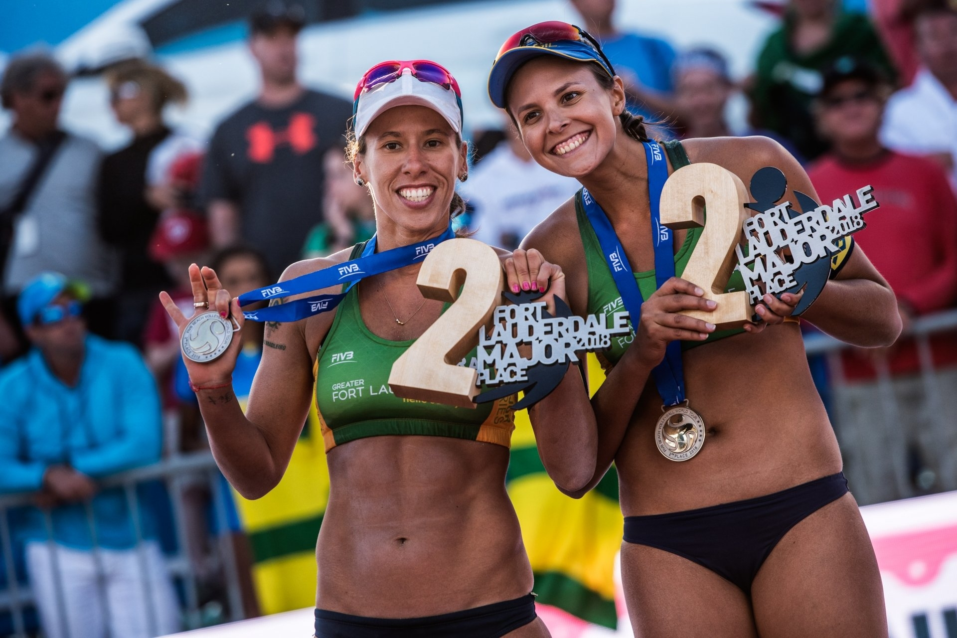 Brazilians Taiana and Carol Horta won silver in Fort Lauderdale