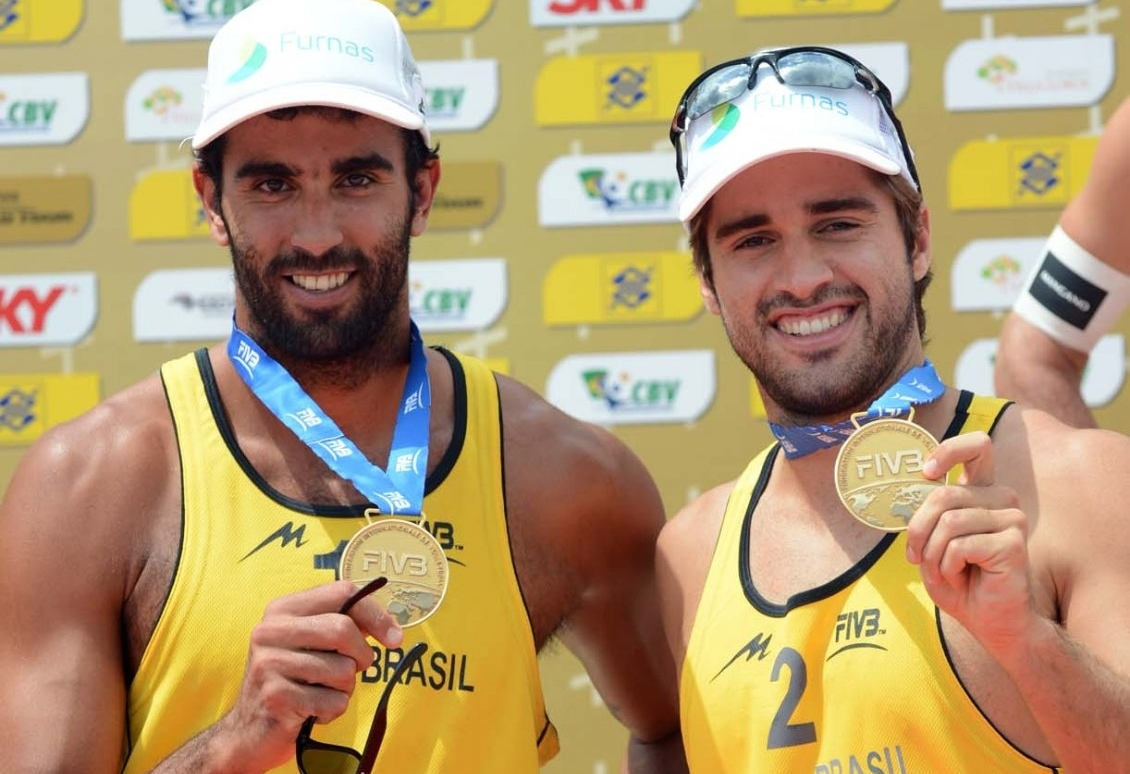 Pedro and Bruno won a World Tour event in Sao Paulo in 2013 (Photocredit: FIVB)